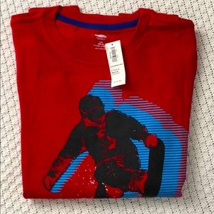 Old Navy: Boys red cotton top with graphic